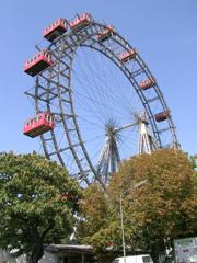 The Giant Ferris Wheel in the Vienna Prater park